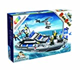 BanBao Civil Services Large Set Police Boat - 600 Pieces
