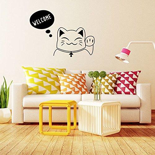 Winhappyhome-Lucky-Cat-Beckon-Bienvenue-Stickers-Muraux-Pour-Coucher-Salon-Canap-TV-Fond-Home-Decor-Tiquette-DTachable-Murales-Stickers