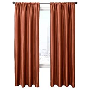 Buy diplomat decor finnia 96 inch rod pocket panel copper for 18 inch window blinds
