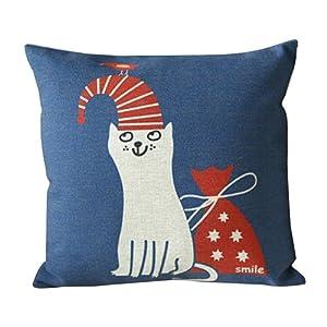 45x45 CM Outdoor Cushions Linen Cushion Covers Christmas