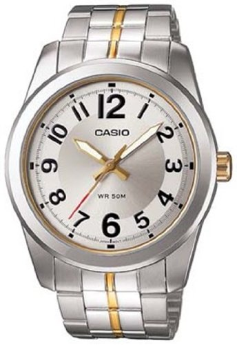 Casio Men's MTP1315SG-7BV Silver Stainless-Steel Quartz Watch with Silver Dial