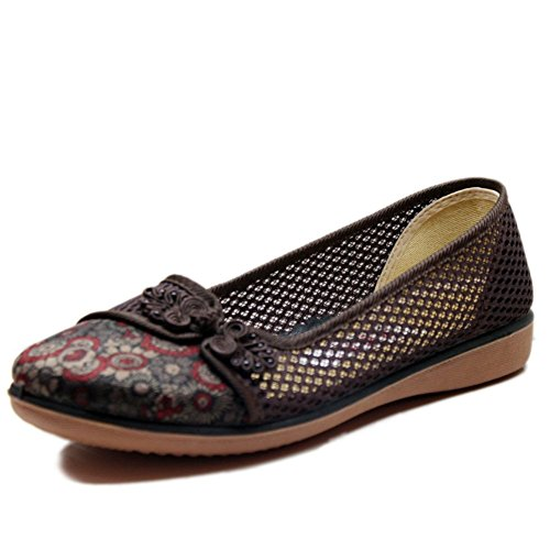 scarpe in mesh traspirante estate modelli femminili/In vecchie scarpe di grandi dimensioni inferiori molli/Scarpe mamma-B Lunghezza piede=26.3CM(10.4Inch)