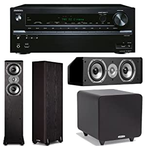 Onkyo TX-NR737 7.2-Channel Network A/V Receiver Plus A Polk Audio Home Theater Speaker Package! (TSi 300, CS10 & PSW111) from Onkyo