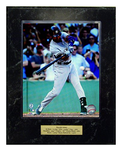 New York Yankees Derek Jeter Final Last Career Hit 8X10 Photograph Picture Plaque With Engraved Nameplate front-946589