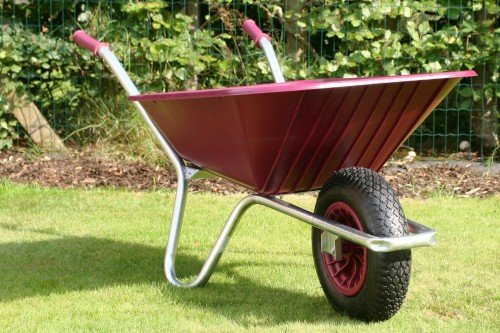 County Clipper Wheelbarrow, Burgundy: Built to Last