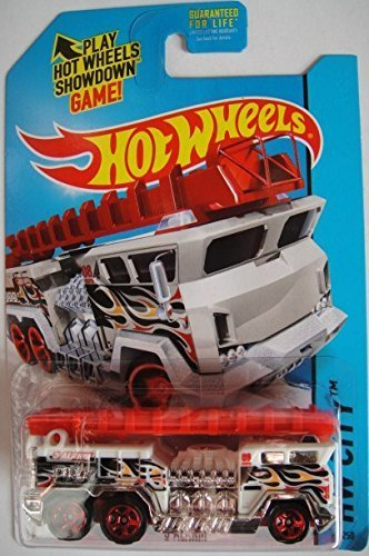Hot Wheels, 2015 HW City, 5 Alarm [White] Fire Engine Die-Cast Vehicle #51/250 - 1