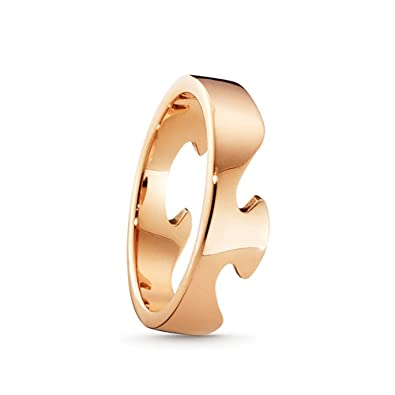 Georg Jensen 18ct Rose Gold Fusion End Ring 1367C