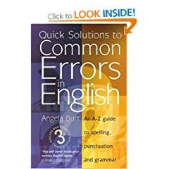 Quick Solutions to Common Errors in English: An A-Z Guide to Spelling, Punctuation and Grammar