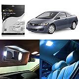 Partsam 2006-2012 Honda Civic Coupe Sedan Ice Blue Interior LED Lights Package Kit + Gift Tool (6 Pieces)
