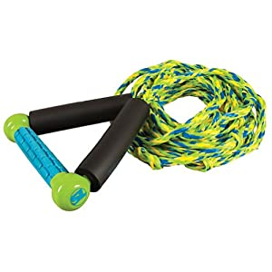 Straight Line Combo Wakesurf Rope 2014 Green/Blue
