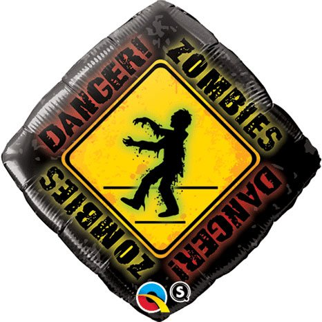 "Zombies Crossing 18"" Diamond Balloon"
