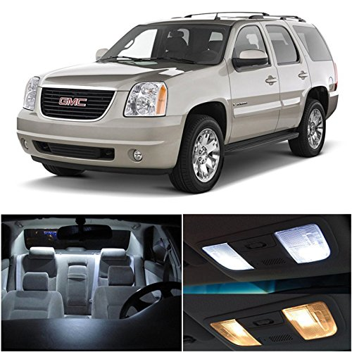 Gmc Yukon 2007 & Up Xenon White Premium Led Interior Lights Package Kit (8 Pieces)