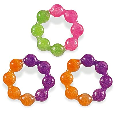 Munchkin Fun Ice Soothing Ring Teether, Colors May Vary by Munchkin