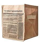 Moolecole Foldable Mesh Laundry Basket Folding Storage Basket Home Organizer NEWSPAPER