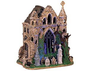Lemax Spooky Town Village Collection Gothic Ruins Lighted Building #65342