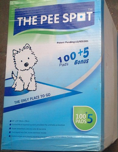 The Pee Spot 100 +5 Revolutionary Training Pads (Wee Wee Pads) front-949733