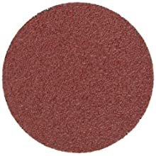 "3M Roloc Disc 361F TR, Cloth, Aluminum Oxide, Dry/Wet, 1-1/2"" Diameter, P100 Grit (Pack of 50)"