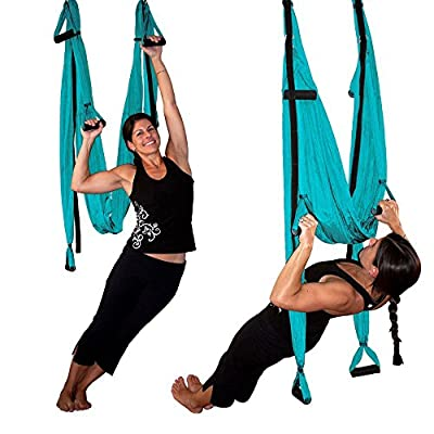 Aerial Anti Gravity Yoga Swing Premium Set - Trapetz Yoga Tuch