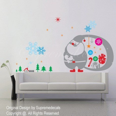 Christmas Decals-Happy Christmas-Removable vinyl
