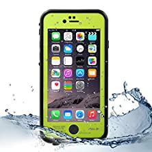 buy Eonfine Iphone 6 Plus Waterproof Case Durable Protection Ip68 Waterproof Compatible With Touch Id Ultra Slim Soft Snow Dirt Shockproof Outdoor Protective Case For Iphone 6 Plus Fruit Green