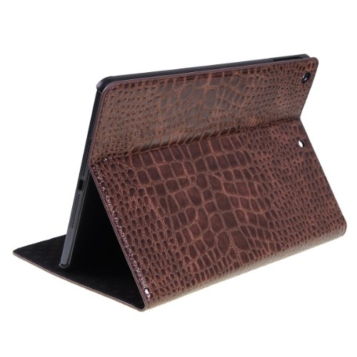 Find Cheap Zazr-technology Folding Support Crocodile Pattern Leather Fabric Apple Ipad Air / Ipad 5(...