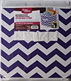 Better Homes and Gardens Collapsible Fabric Storage Cube - Purple Chevron