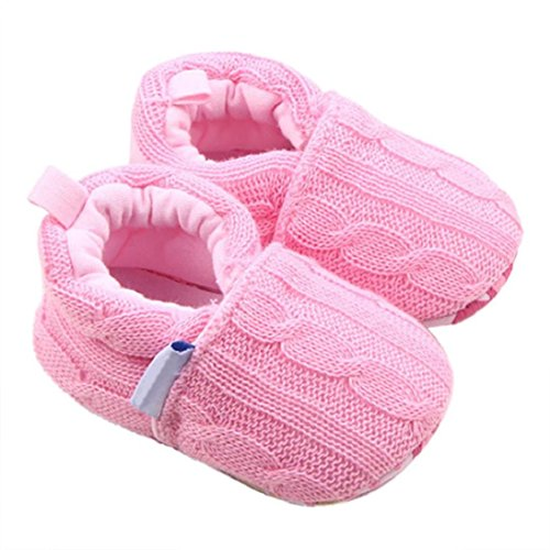 Fheaven Fashion Autumn and Winter Warm Baby Girls Shoes Sneaker Anti-slip Soft Sole Toddler Shoes (US:2.5, Pink)