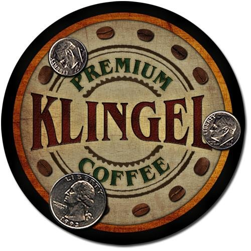 Klingel Family Name Coffee Drink Coasters - 4 Pack pavone family crest square coasters coat of arms coasters set of 4