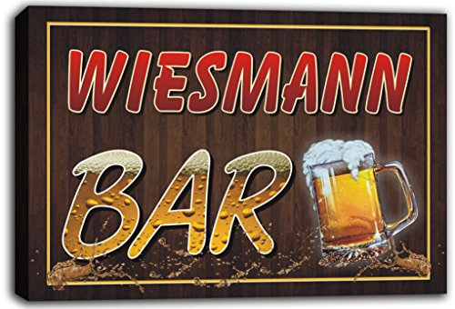 scw3-075929-wiesmann-name-home-bar-pub-beer-mugs-cheers-stretched-canvas-print-sign