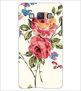 PrintDhaba Flower D-2214 Back Case Cover for SAMSUNG GALAXY E5 (Multi-Coloured)