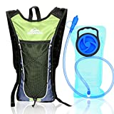 Hydration Pack Backpack - GRESAHOM Outdoor Hydration Backpack with 2L/70 Oz Water Bladder - Rucksack Bladder Bag for Cycling Running Hiking Camping - Best for Men Women Kids