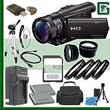 Sony HDR-CX900 Handycam Camcorder (Black) + 64GB Green's Camera Bundle 6