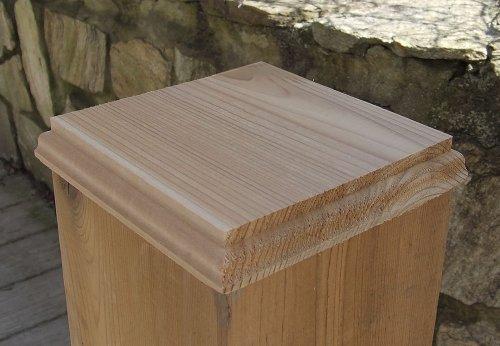 6x6 Cedar Manor Post Top (No Hole) for decks and fences