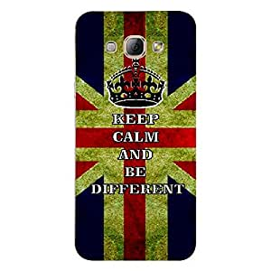 Skin4gadgets Keep Calm and BE DIFFERENT - Colour - UK Flag Phone Skin for SAMSUNG GALAXY A8