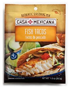 Casa Mexicana Fish Tacos Seasoning Mix, 1-Ounce Bags (Pack of 12)
