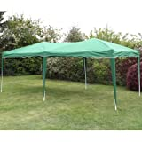 ANDES 6M X 3M FOLDING POP-UP GAZEBO GARDEN PARTY TENT MARQUEE GREEN