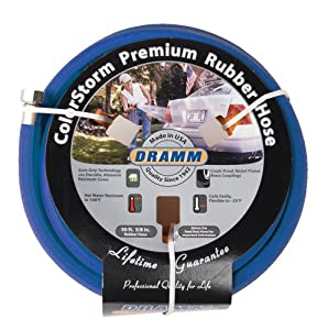 Dramm 17005 ColorStorm Premium 50-Foot-by-5/8-Inch Rubber Garden Hose, Blue