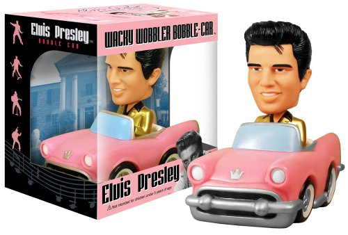Buy Low Price Funko Elvis Presley Pink Cadillac Bobble Car Figure (B002MS7NYY)