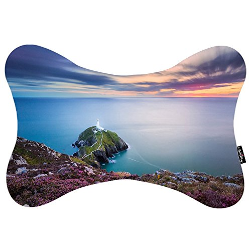 i-famuray-voiture-oreiller-with-washable-soft-microfiber-travel-pillowcase-lighthouse-on-a-rocky-pen