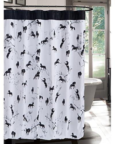 Duck River Textile Bessie Shower Curtain, Black/White