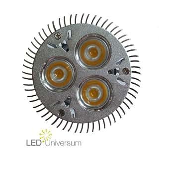 2er Pack LED Spot GU10 - 6W (3x2W) - High Power LEDs - warmweiss (entspricht 50W Halogen)