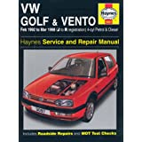 VW Golf and Vento Service and Repair Manual: Petrol and Diesel 1992 to 1998 (Haynes Service and Repair Manuals)by Mark Coombs