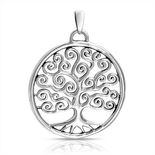 Bling Jewelry 925 Sterling Silver Celtico turbinio Circle Tree Of Life Pendant