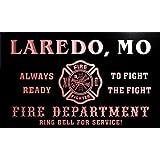 qy59742-r FIRE DEPT LAREDO, MO MISSOURI Firefighter Neon Sign Barlicht Neonlicht Lichtwerbung