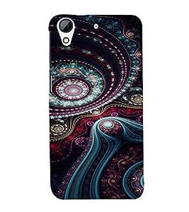 PrintVisa Ethnic Art Pattern 3D Hard Polycarbonate Designer Back Case Cover for HTC Desire 728