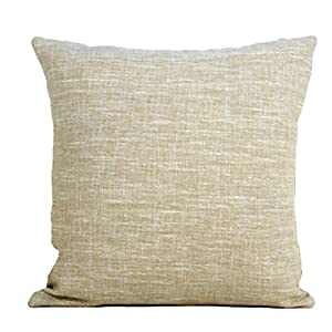 Decorative Burlap Pillow Covers : Amazon.com - Burlap Decorative Throw Pillows Cover Plain Khaki