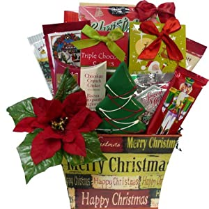 Merry Christmas Gift Basket of Holiday Treats