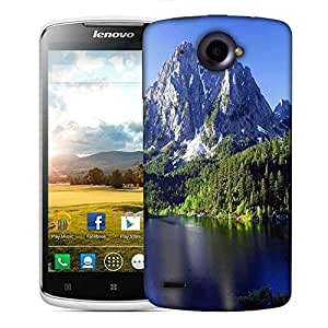 Snoogg White Mountains And Trees Designer Protective Phone Back Case Cover For Lenovo S920