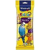 Vitakraft Budgie Kracker Bird Food Honey-Sesame/ Egg-Grass/ Apricot-Fig, Pack of 7