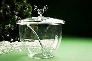 Christmas Moose Mug Punch Bowl Set with Cover and Ladel